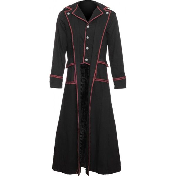Long black men's coat from the Raven SDL brand of gothic clothing ...