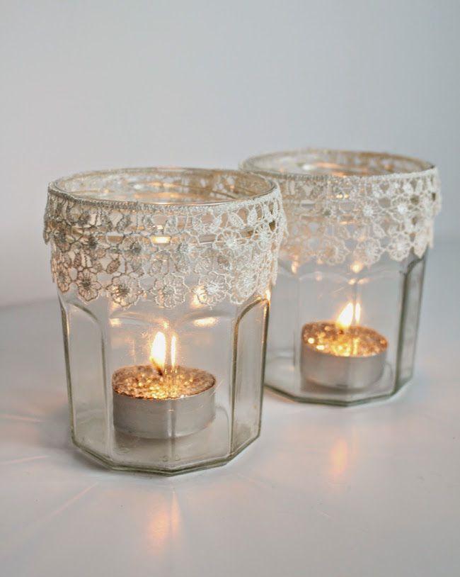 candelabro velas navideas botes frascos casa acogedora candeleros navidad decoracion mermelada latas decoradas