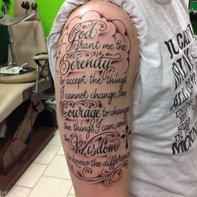 30 Inspiring Serenity Prayer Tattoo Designs-Serenity, Courage and ...