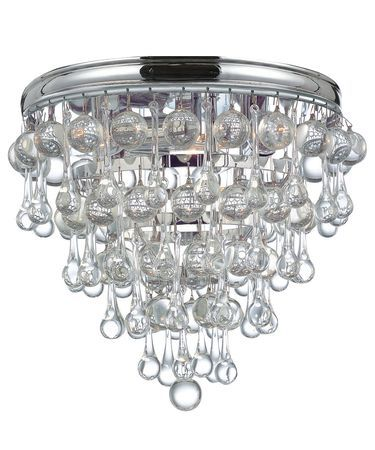 Crystorama 135 ch calypso flush mount capitol lighting 1800lighting com