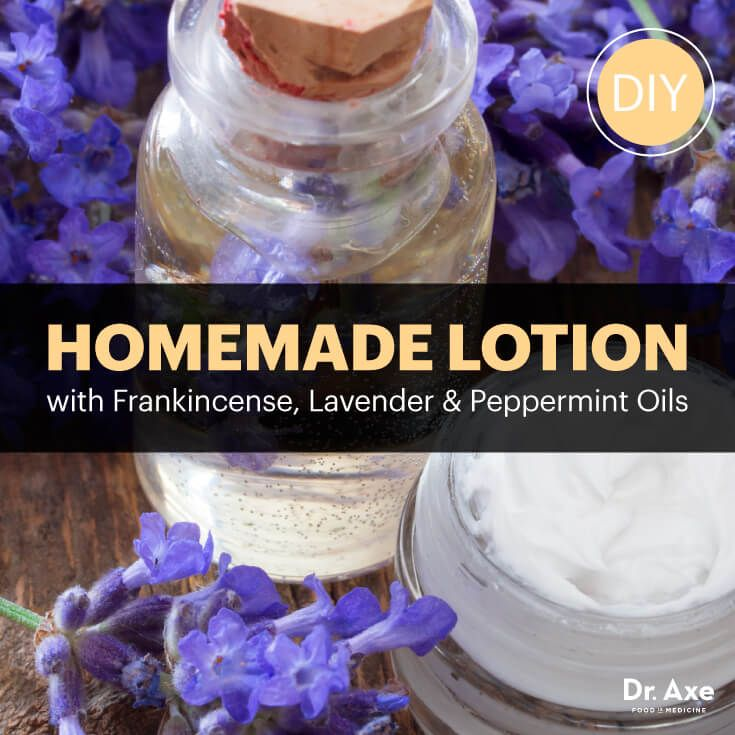 Homemade Lotion With Frankincense Lavender Peppermint Oils