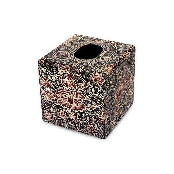 Novica Wood Batik Tissue Box Liked On Polyvore Featuring