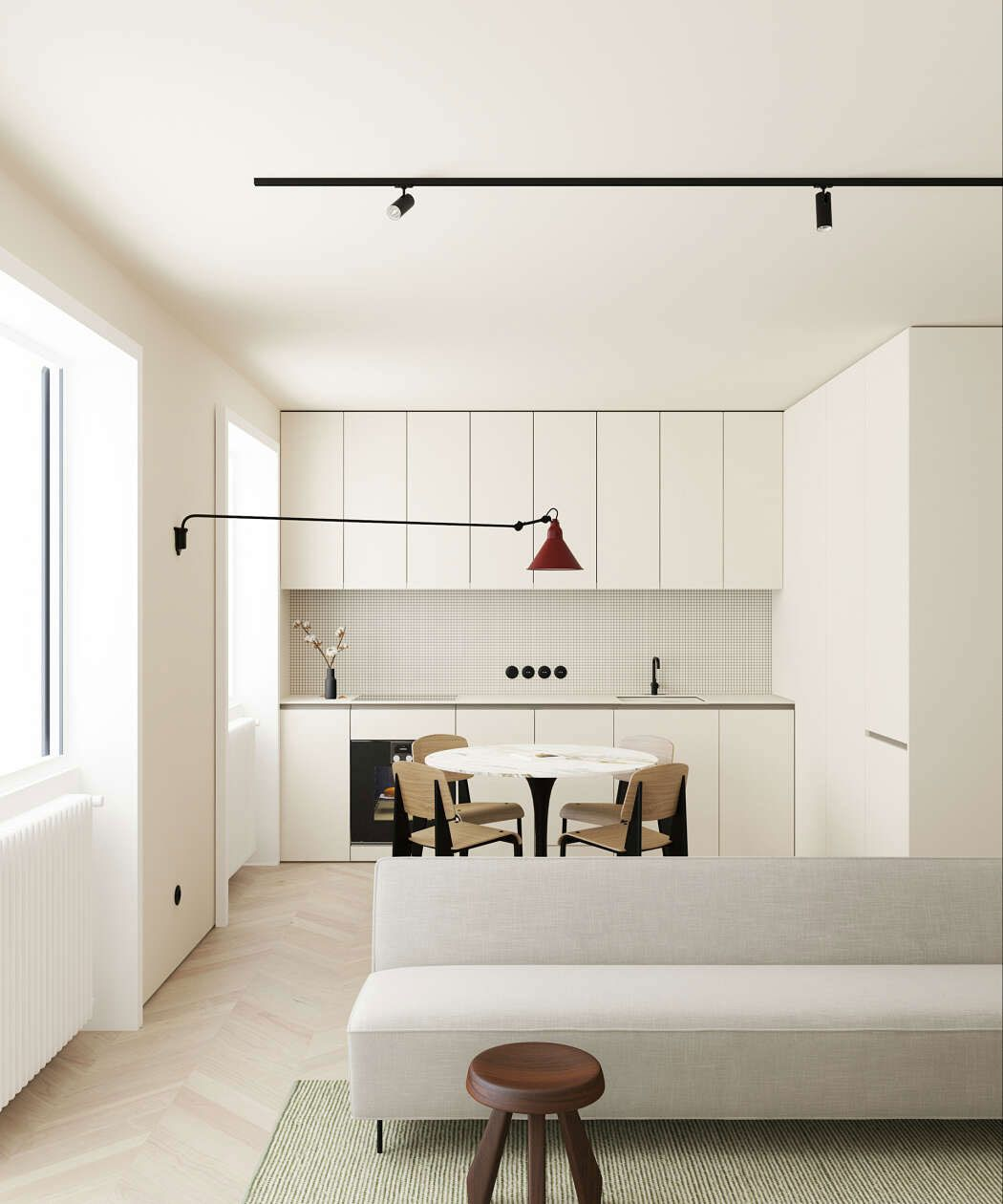 This Modern Scandinavian Style Apartment Is A Lesson In Warm Minimalism Nordic Design Minimalism Interior Interior Interior Design Kitchen