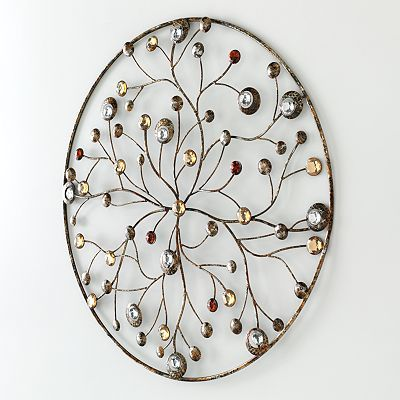 Jeweled Circle Wall Decor Kohls