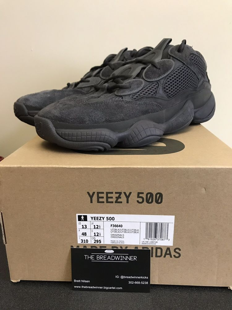 a3e285dc264 ADIDAS YEEZY 500 UTILITY BLACK F36640 SIZE 13  fashion  clothing  shoes   accessories  mensshoes  athleticshoes (ebay link)