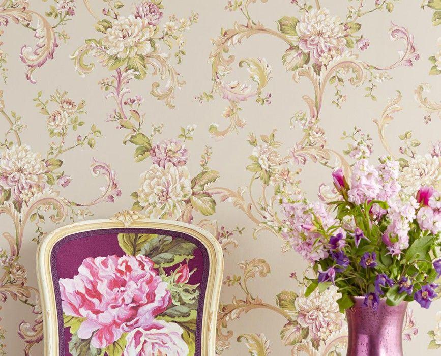 Carta Da Parati Damascata Rosa : Carta da parati smontabile moderna floreale rosa chiaro carta da