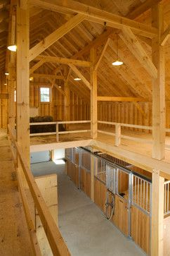 Maine Timber Frame Horse Barn Stable Interiors Horse