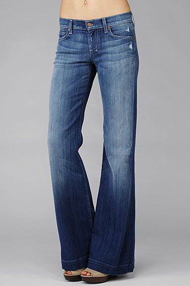 7 For All Mankind Dojo Original Trouser In Baywater Blue On