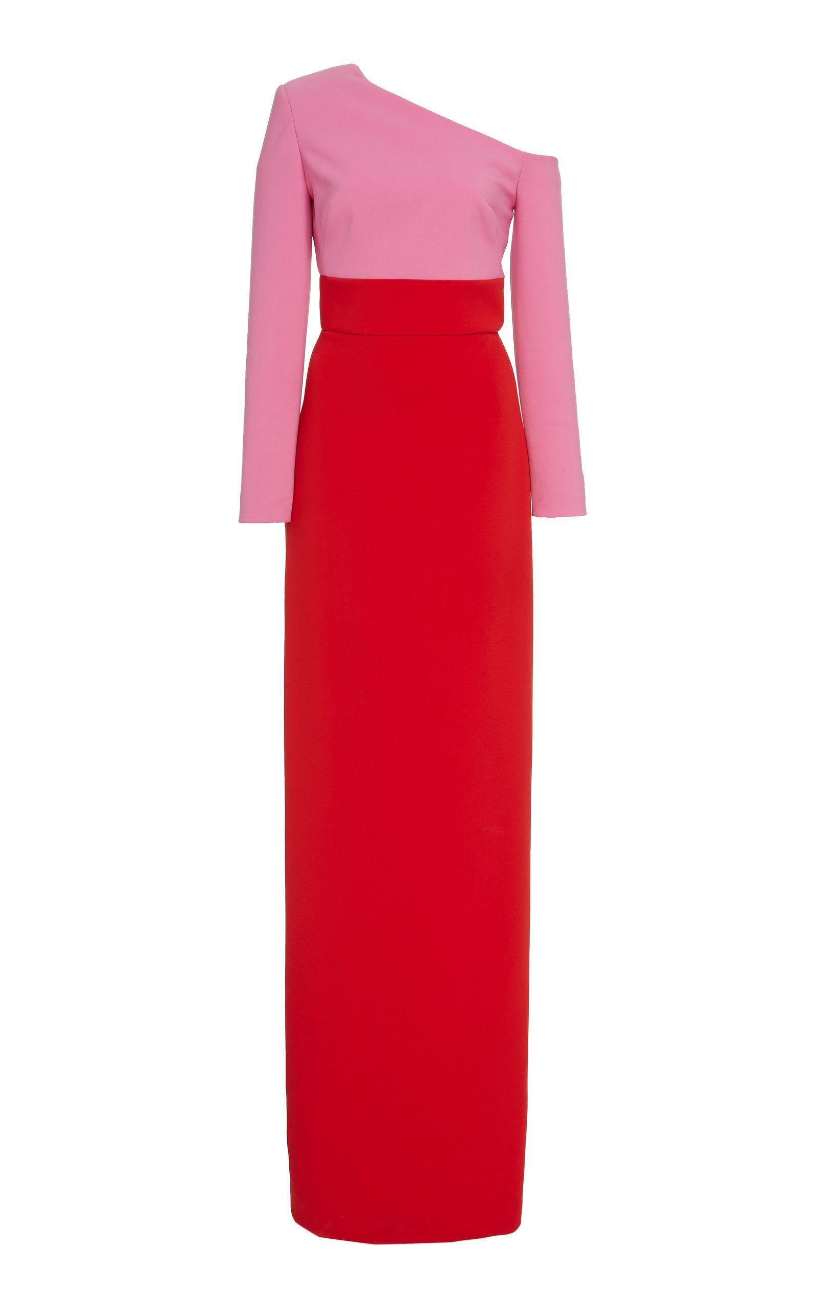 3f0b867ec23 Asymmetrical Two-Tone Jersey Gown by BRANDON MAXWELL for Preorder on Moda  Operandi