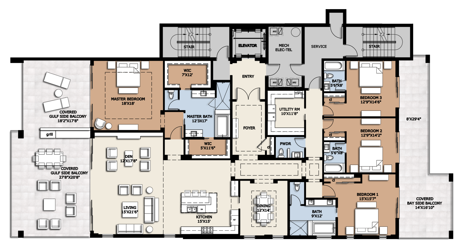 Superb Luxury Condominium Floor Plans #1: Residence C · Usa HouseLuxury CondoSite PlansFloor ...
