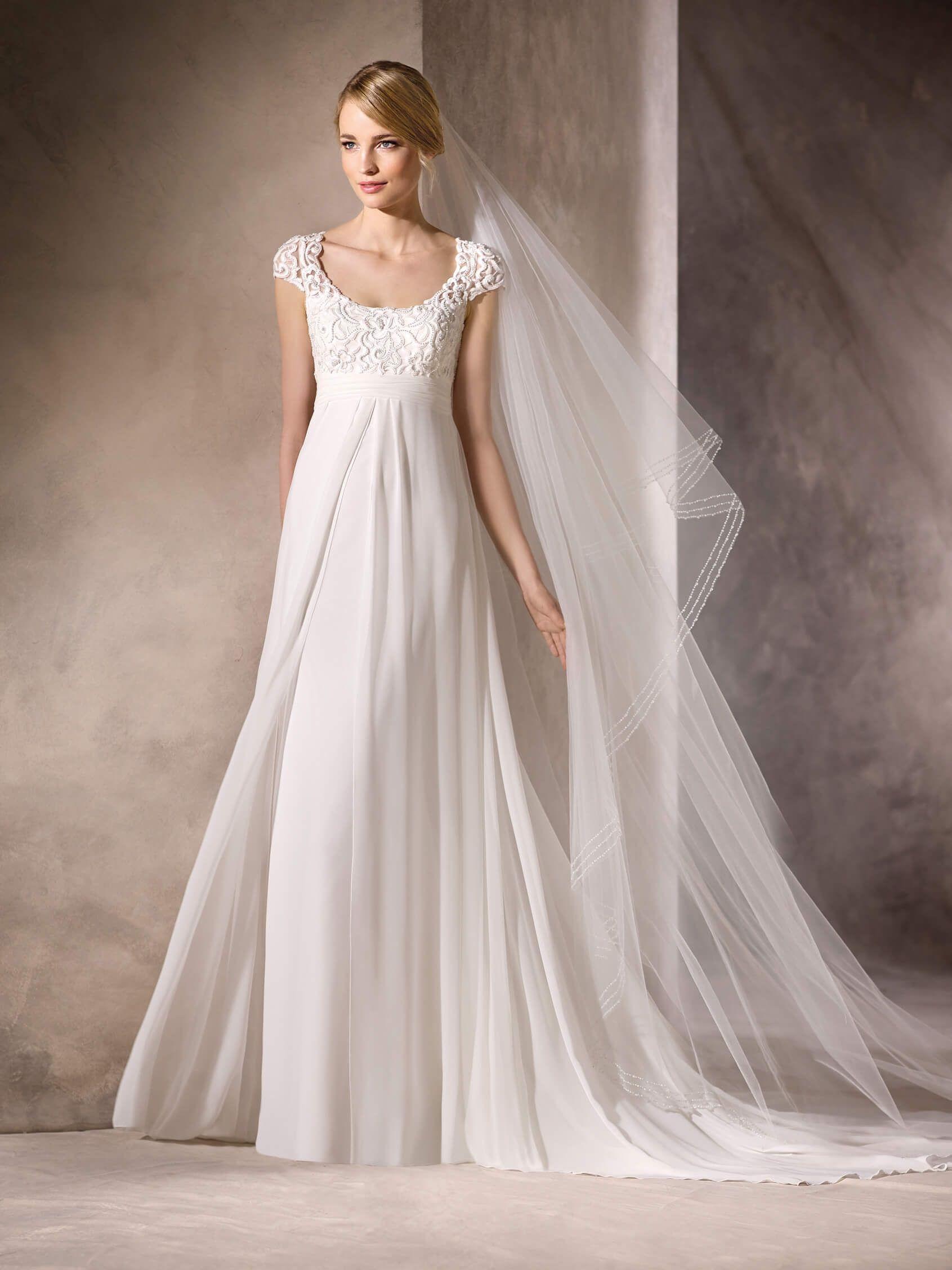 Vestidos de novia embarazada corte imperio