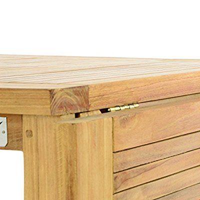 Divero Gl05527 Klapptisch Balkontisch Gartentisch Esstisch Holz Teak