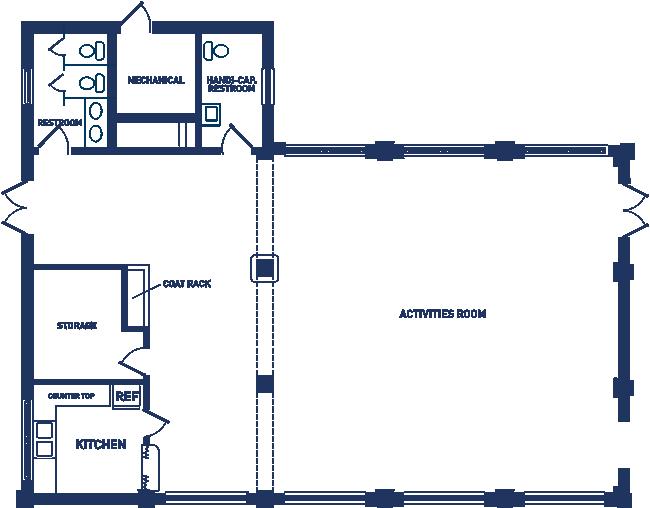 Sligo Dennis Avenue Park Activity Building Floor Plan