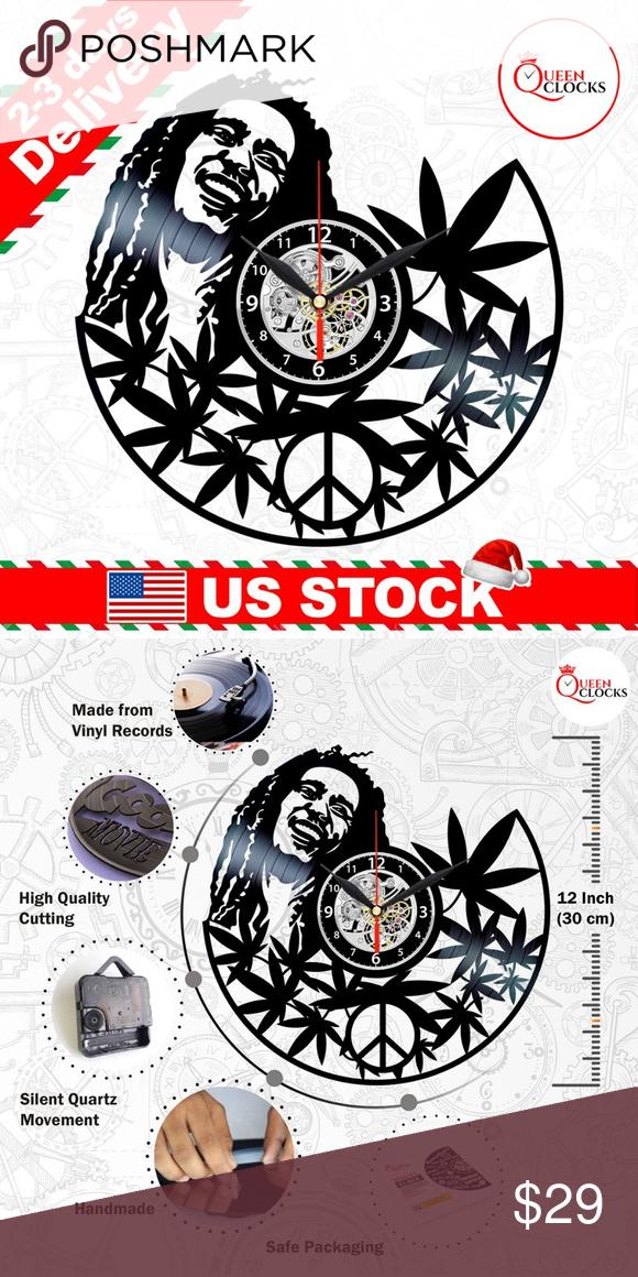 Bob Marley Vinyl Clock Record Wall Decor Gifts In 2020 Clock Wall Art Record Wall Decor Marley Vinyl