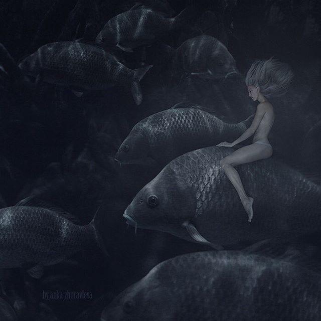 """""""The aquatic"""" series © Anka Zhuravleva Model - @anka_zhuravleva  For my everyday's pics and backstages look up here @anka_zhuravleva"""