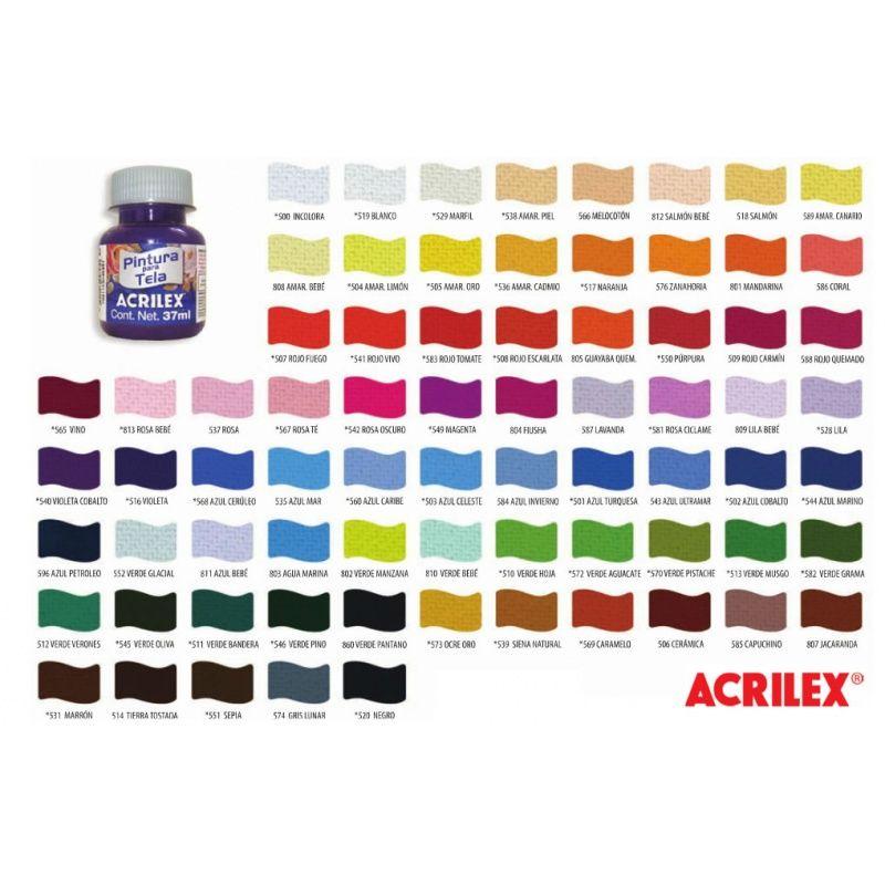 Carta de colores acrilex para tela buscar con google - Nombres de colores de pinturas ...