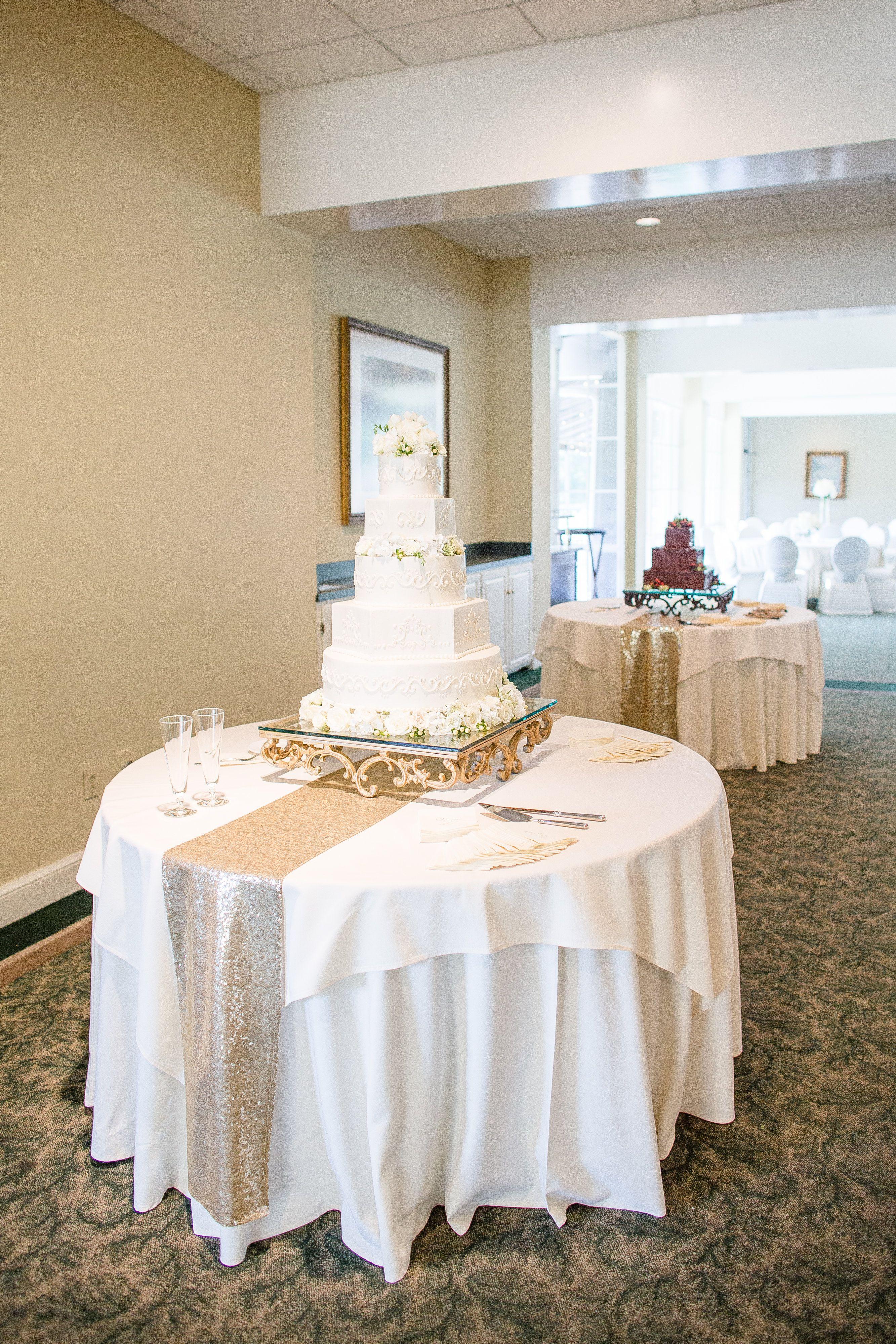 Hoover Country Club Wedding Summer Weddings Main Dining Room Ballroom Cake Table