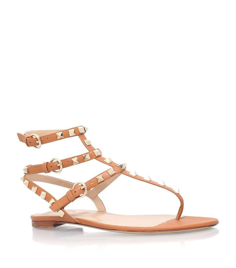 Sandals for Women On Sale, Silver, Leather, 2017, 7.5 Valentino