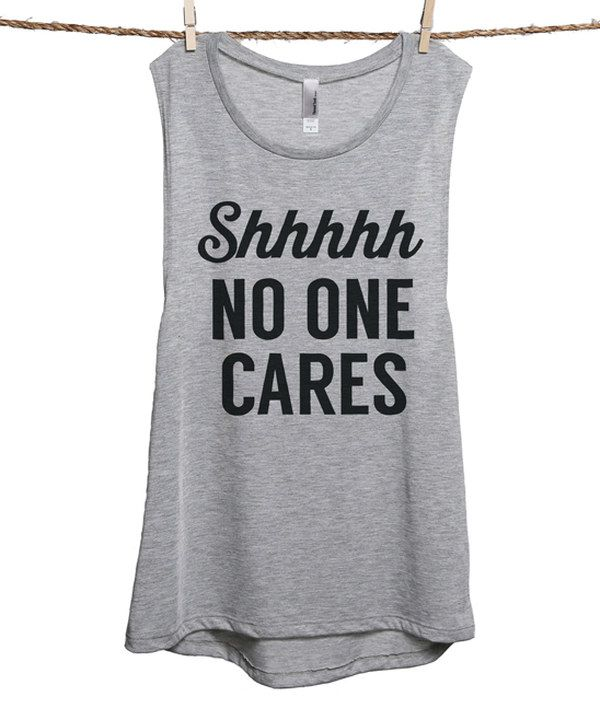 Look at this Sport Gray 'No One Cares' Tank - Women & Plus on #zulily today!