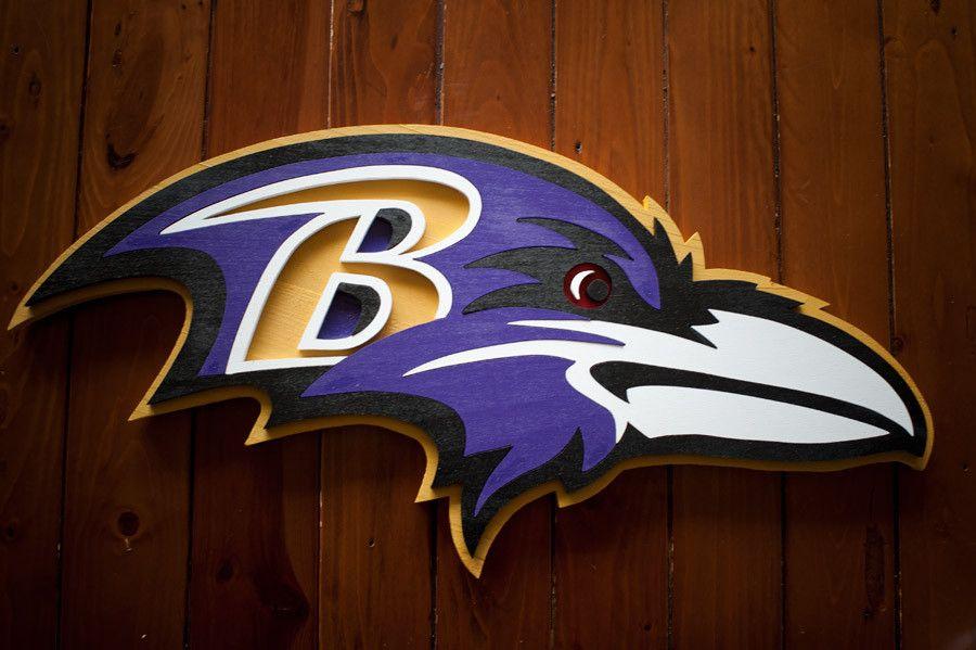 Baltimore Ravens Wood Wall Art Wood Flag Baltimore Ravens Wooden Flag