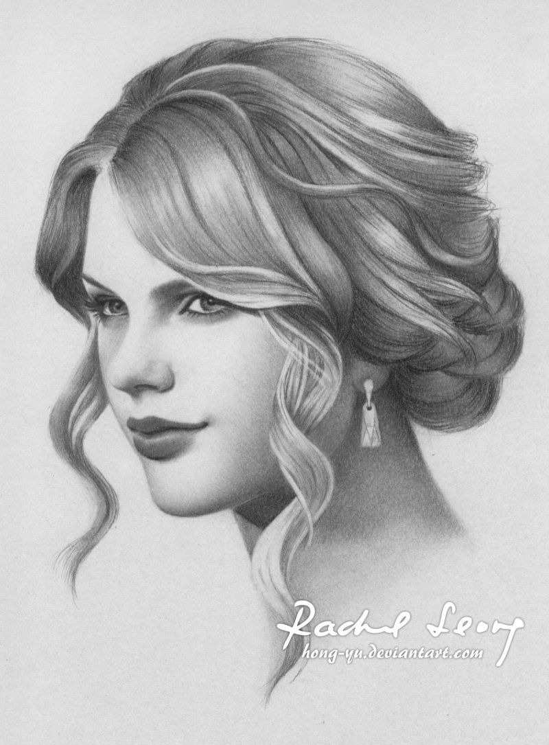 Taylor swift 10 by hong yu deviantart com on deviantart drawing