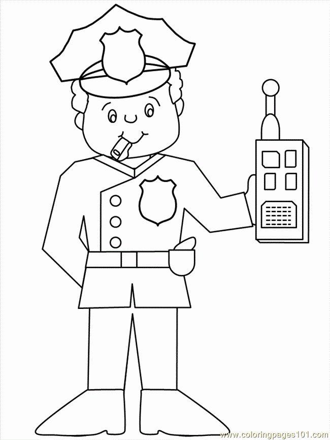 Police Officer Coloring Page Elegant Police Officer