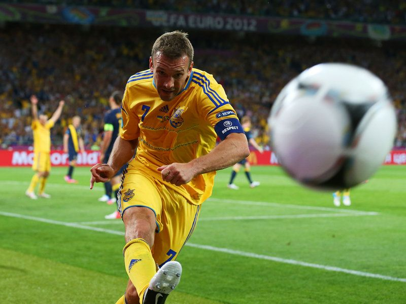 A Fairytale Story As The 35 Year Old Striker Puts Ukraine In A Great Position To Win Their Opening Game Football Football Icon Soccer