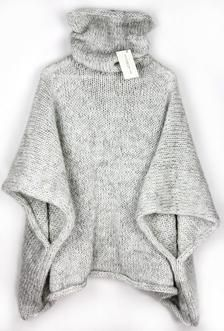 Cozy Sweater Poncho, Knit Poncho, Oversized Sweater, Big Sweater, Loose Sweater, Warm Sweater -   17 diy Clothes sweater ideas