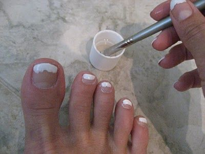 Diy french manicurepedicure weddingbee nails pinterest diy french manicurepedicure weddingbee solutioingenieria Images