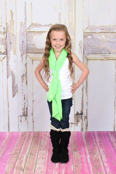 Neon Green Scarf
