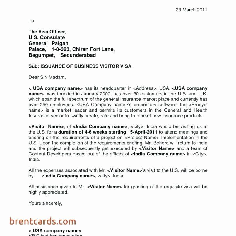 Sample Invitation Letter For Visa For Brother Beautiful Invitation