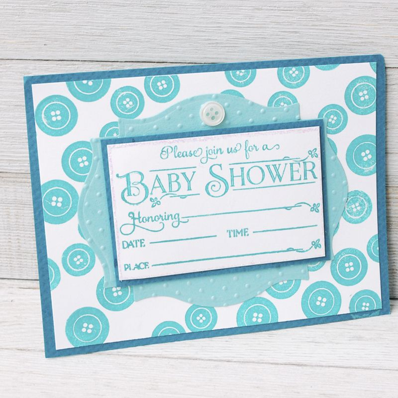 Use stamps to create a beautiful baby shower invitation easy diy use stamps to create a beautiful baby shower invitation easy diy shower ideas solutioingenieria Choice Image