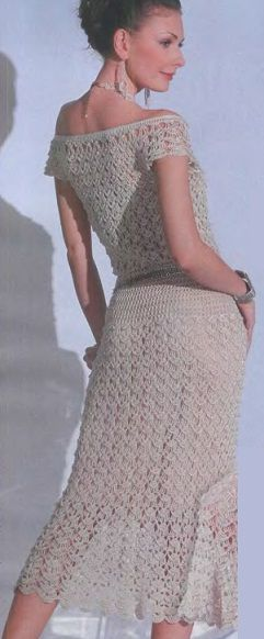 Схема вязания платья крючком