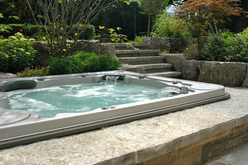 Here\'s a large rectangular in ground hot tub. | just dreamin ...