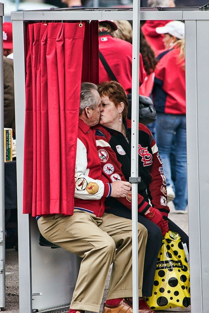 Photo booth at Opening Day Rally, Busch Stadium - St. Louis