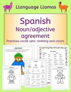 Spanish Clothing And Colors La Ropa Y Los Colores Elementary Spanish Lessons Spanish Teaching Resources Spanish Clothing
