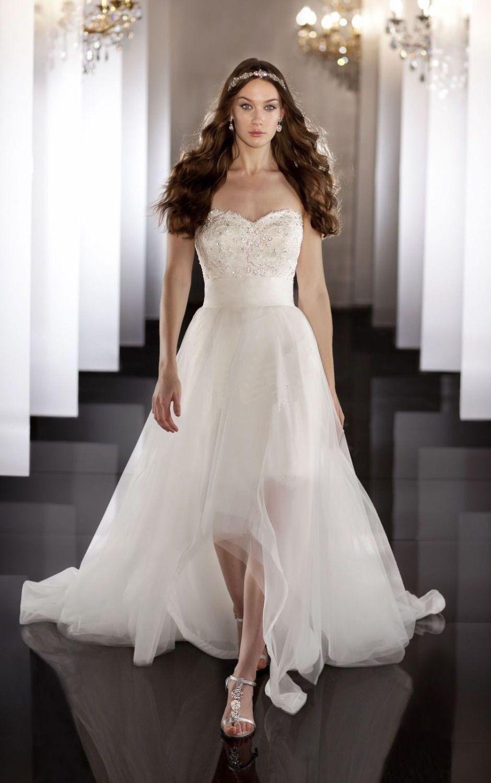 2014 New White Ivory High Low Wedding Dress Bridal Gown Custom Size 4-6-8-10-12-14-16-18++++