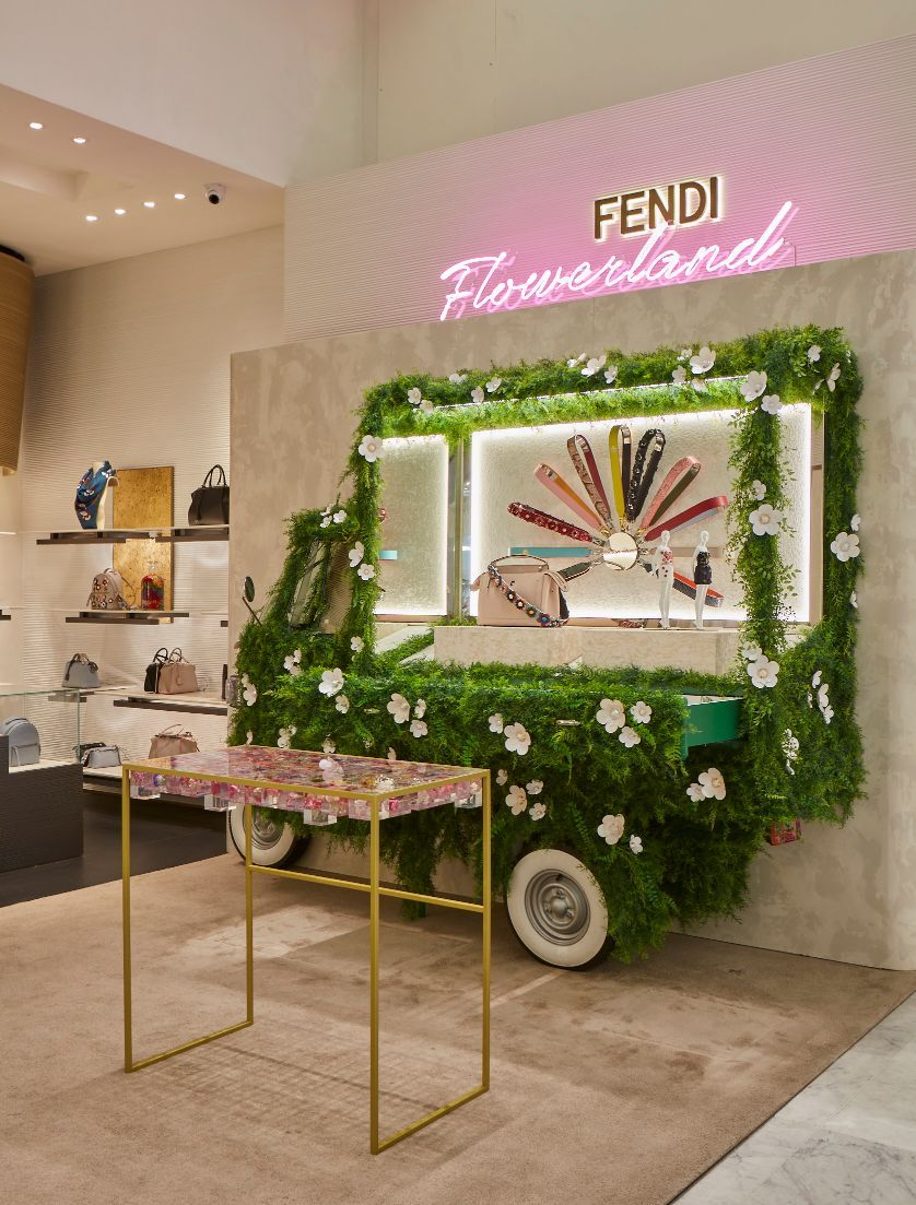 4ef2794cae90 Fendi Flowerland has arrived at Selfridges in London! The just-opened  pop-up shop features the Fendi Spring Summer 2016 Collection and the  incredible ...