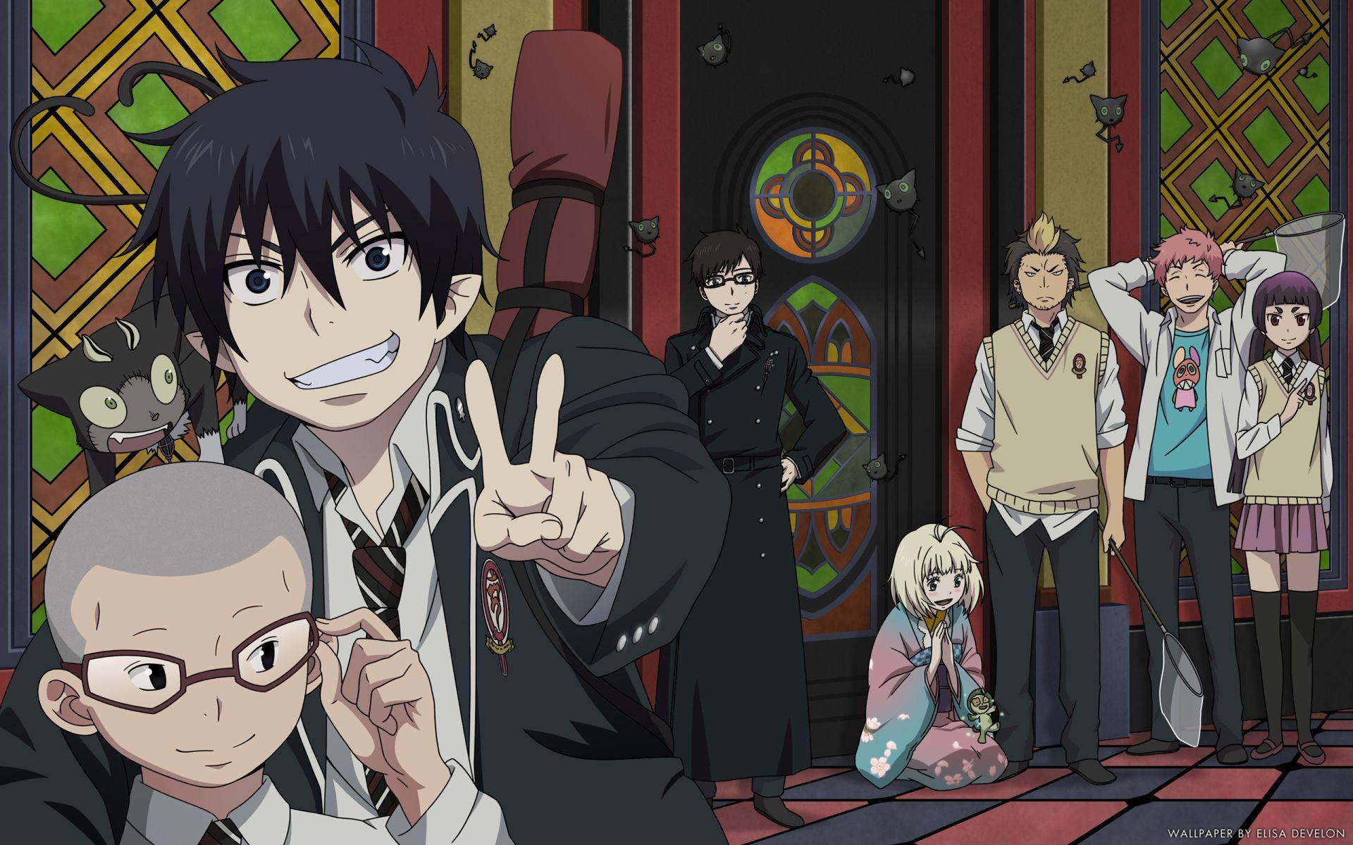 Anime Blue Exorcist Renzo Shima Izumo Kamiki Kuro Ao No Exorcist