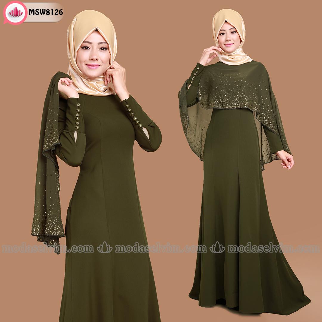 b9c734e0ece55 Kebaya Müslüman Kıyafeti, Müslüman Elbisesi, Türban Kıyafetler, Islami  Moda, Müslüman Modası,