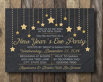 new years eve invite - Google Search | RYC | Pinterest