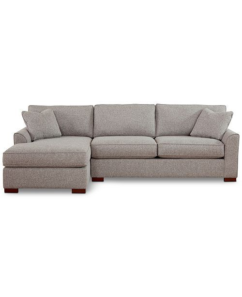 Furniture Carena 2 Pc Fabric Chaise Sectional Sofa