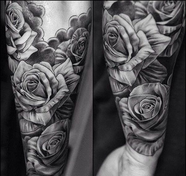 men's black & gray tattoos | black and grey rose tattoos ...