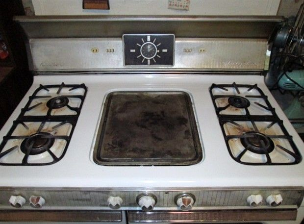 Working 1957 Kenmore Gas Range With Griddle And Rotisserie