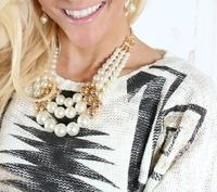 Golden Pearls Layered Necklace