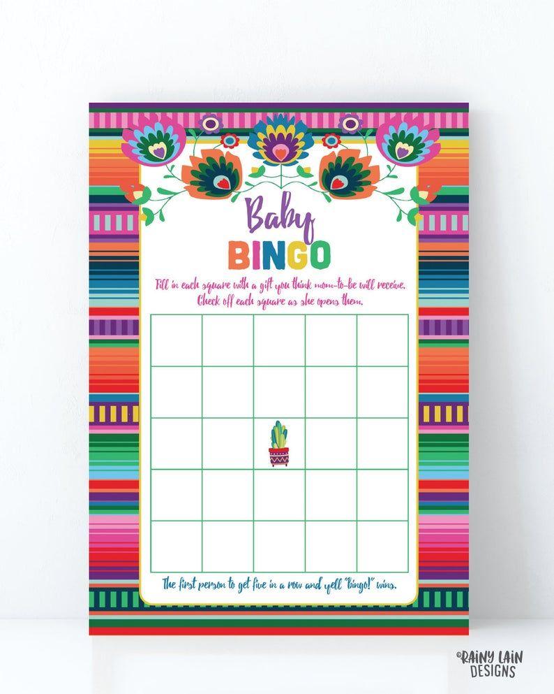 Baby Bingo Baby Fiesta Game Fiesta Baby Shower Game   Etsy