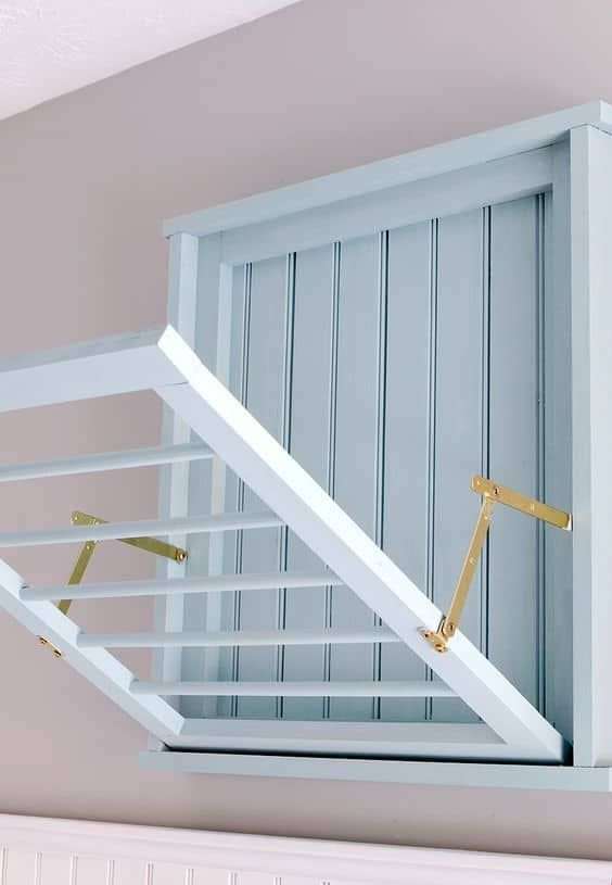 Diy Wall Mounted Drying Rack Free Plans With Images Drying