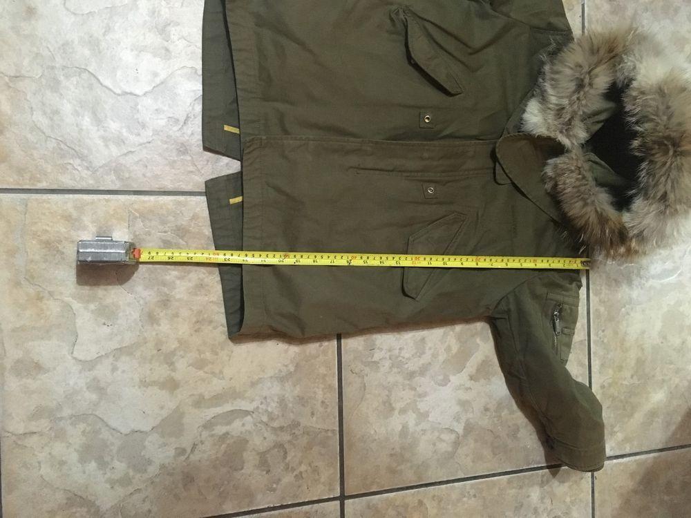 5e58693d2 Desquared2 designer boys coat parka jacket real fur hood khaki green ...