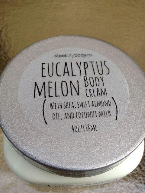 Eucalyptus Melon  Body Cream by SteelCityBodyCompany on Etsy, $15.00