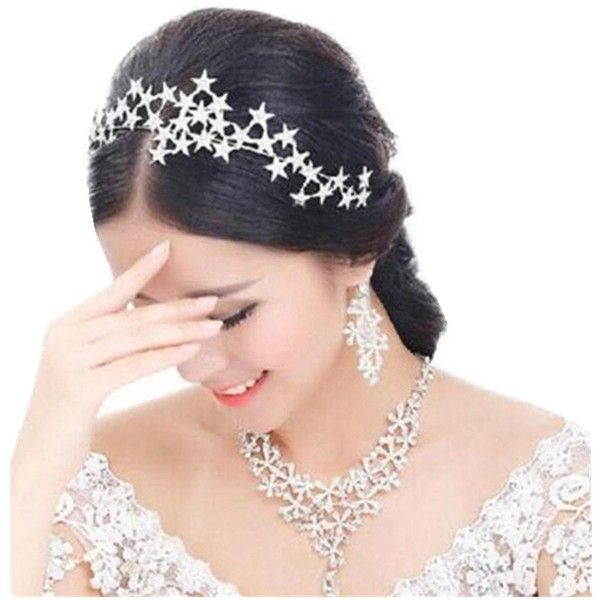 Cheap Wedding Hair Accessories Buy Quality Tiara Directly From China Hairband Bride Suppliers HIMSTORY High Clear Crystal Handmade Star